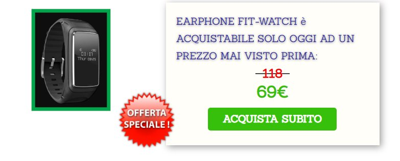 earphone fit watch prezzo